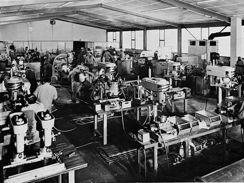 Production hall 60 years ago